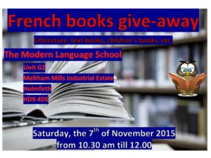 French books give-away