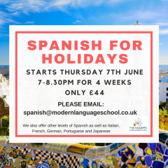 Spanish for holidays